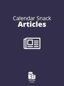 Calendar Snack Blog Articles
