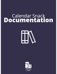 Calendar Snack User Documentation